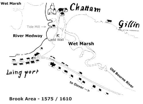 Central Chatham - Map 1575