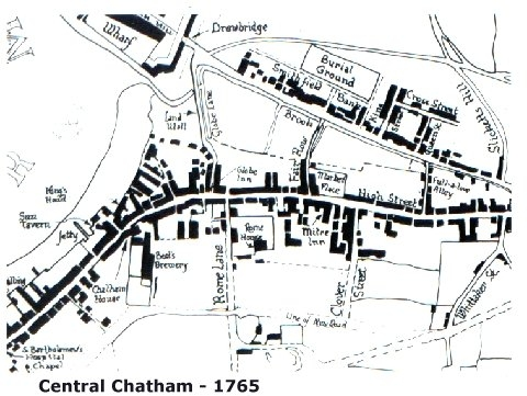 Central Chatham - Map 1765